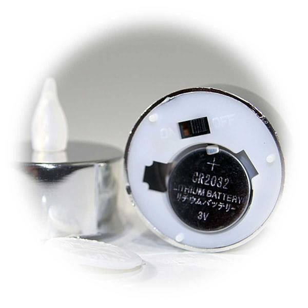 Batteriebetriebene Teelichter als 2er Set