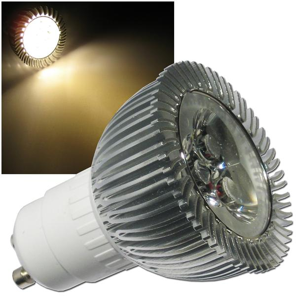 GU10 LED-Strahler Highlight-LED 3x2W warm weiß