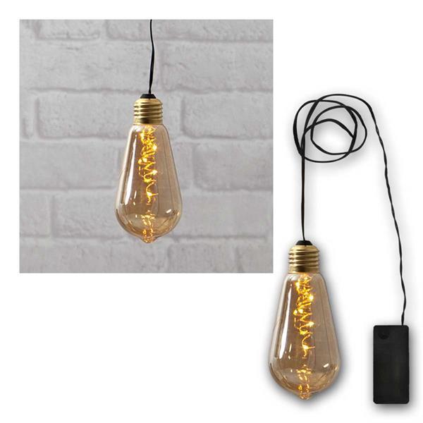 Deko-Licht Glow LED warmweiß Glas amber Batterie