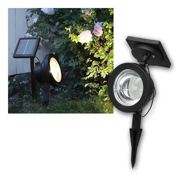 Solar Strahler SPOTLIGHT 4 LED 30lm warmweiß, IP44