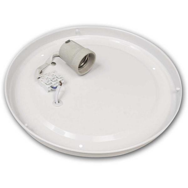 Deckenlampe mit Kunststoffabdeckung für 1x E27 Leuchtmittel