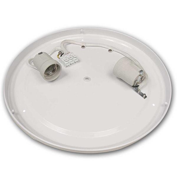 Deckenlampe mit Kunststoffabdeckung für 2x E27 Leuchtmittel