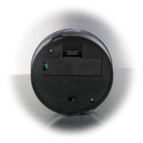 LED Solar Standleuchte mit Ein- und Ausschalter und Erdspieß