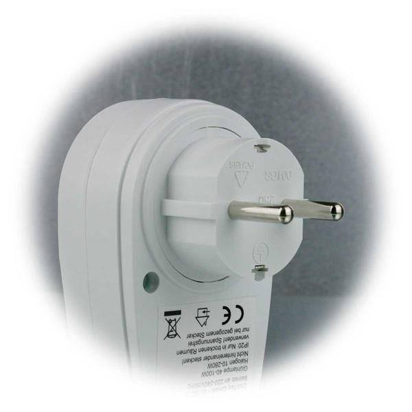 Zwischenstecker Plug-in Model, passt direkt in jede Steckdose