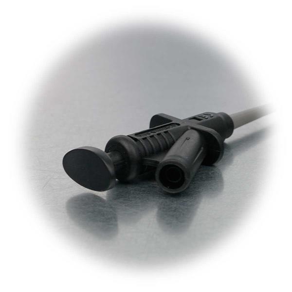 Abgreifklemme mit 4mm Sicherheitskupplung und Abrutschsicherung