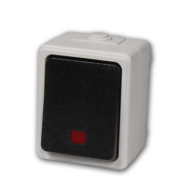 Feuchtraum Kontrollschalter Taff, 250V/10A, IP44