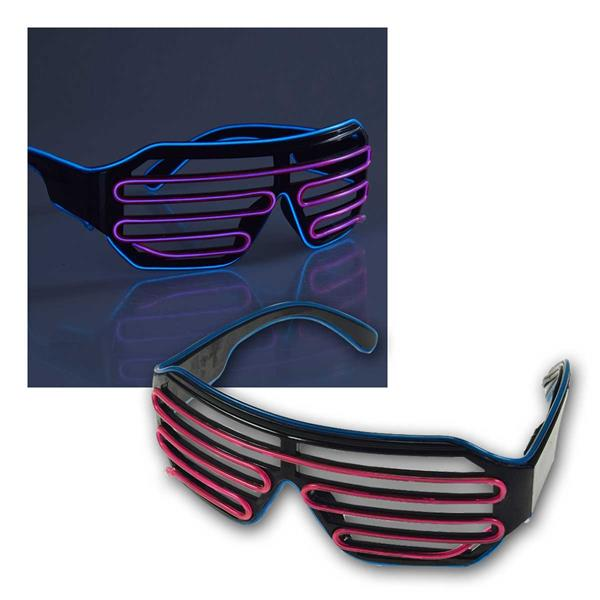 LED Party-Brille BiColor, Kabelfernbedienung