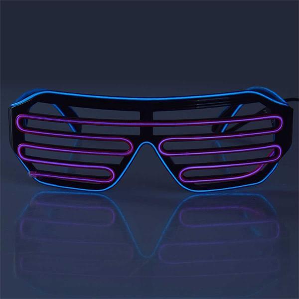 LED Gitterbrille mit verschiedenen Lichteffekten