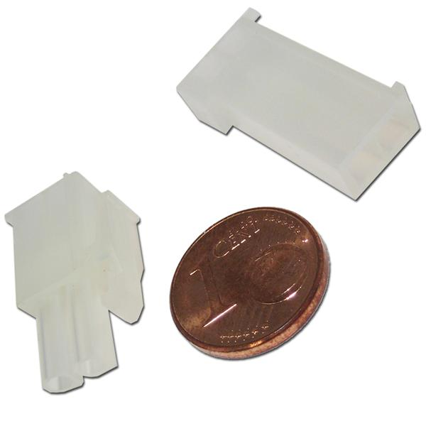 Gehäuse aus weißem Kunststoff für lösbare Kabelverbindungen