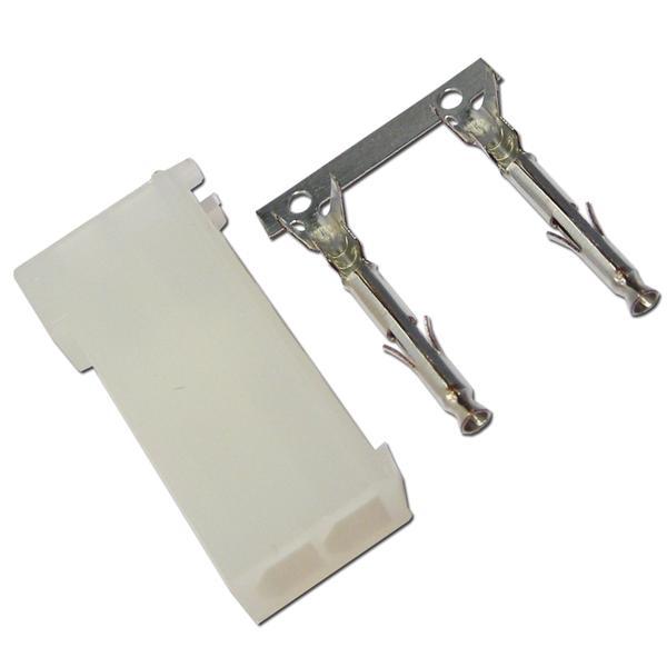 Buchse weiblich aus weißem Kunststoff für lösbare Kabelverbindungen