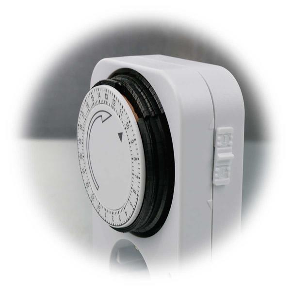 Analoge Zeitschaltuhr mit Dauerbetrieb oder Timerfunktion