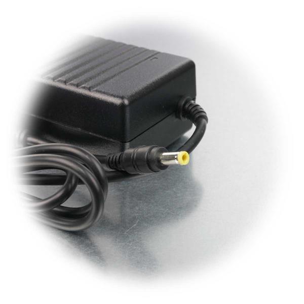 Netzteil ist für den Betrieb von 12V Verbrauchern mit 5,5x2,1mm DC Buchse