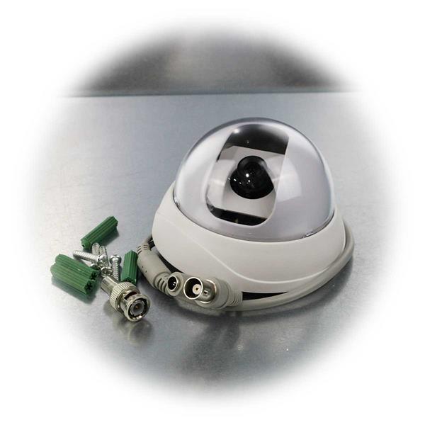 Indoor Dome Kamera mit CMOS Colour, BNC & Chinch