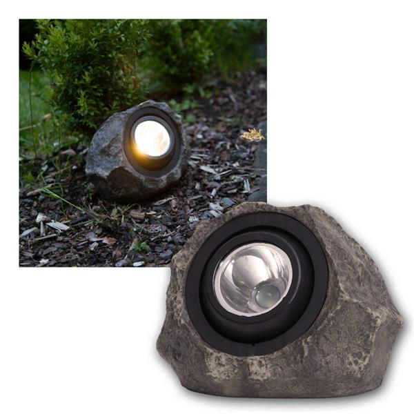 LED Gartenspot Solarstein Rocky, 18lm warmweiß