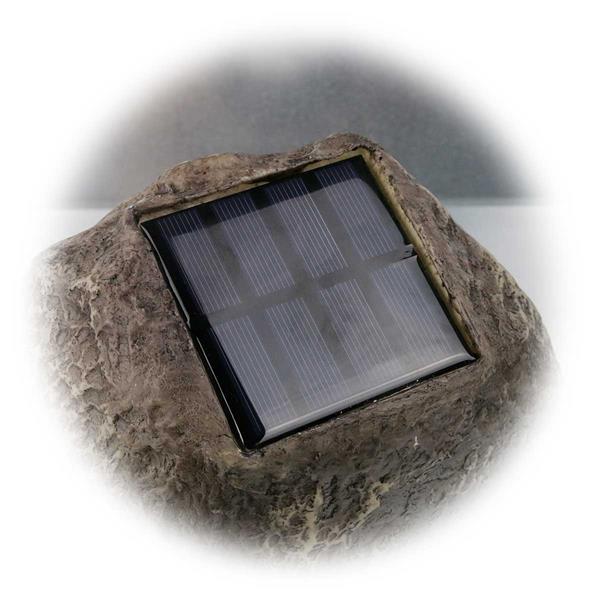 LED Außenleuchte mit Solarpanel und Ein-/Ausschalter