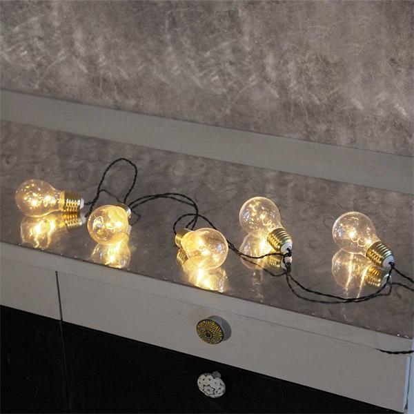 LED Lichterkette mit warmweißem Lichtschein, Batteriebetrieb