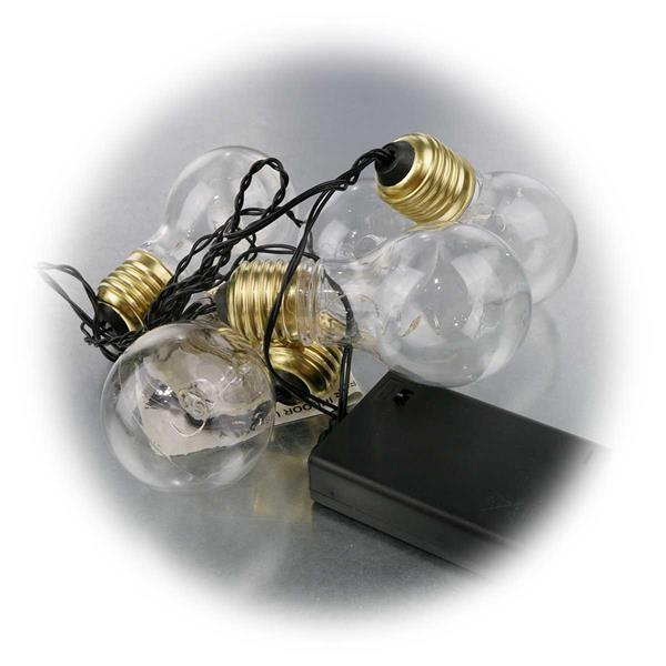 LED Partylichterkette mit 5 Leuchtmittel in Glühbirnenform