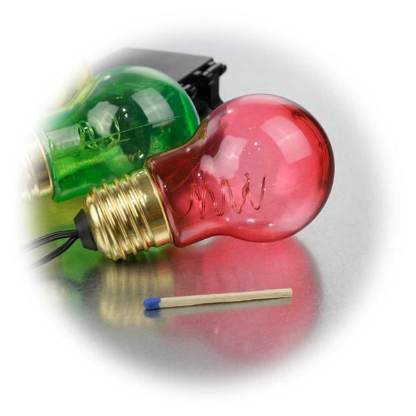 LED Deko Lichterkette in Glühlampen-Optik für den Außenbereich