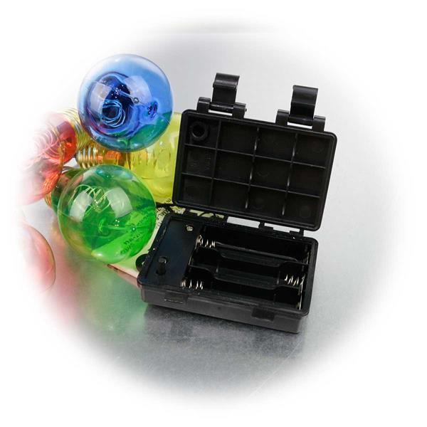 LED Außenlichterkette mit Batteriebetrieb und Timerfunktion