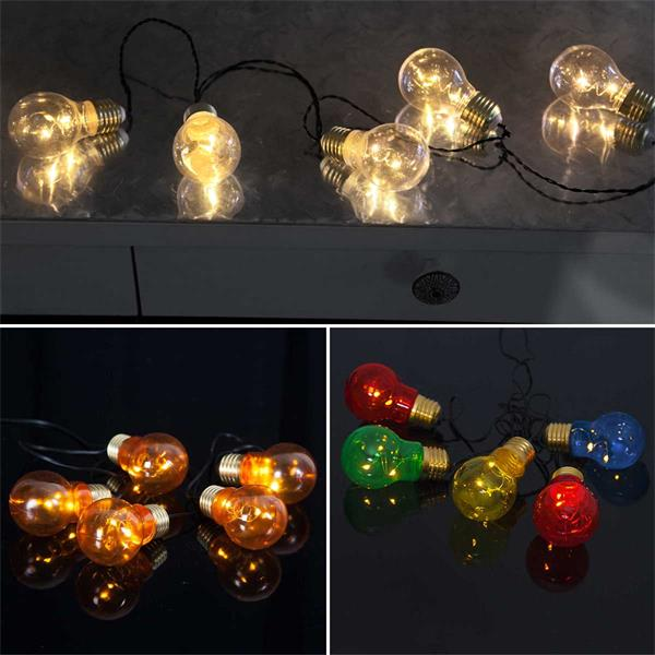 LED Lichterketten mit warmweißem Lichtschein für den Außenbereich