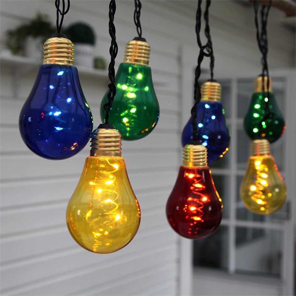 LED Lichterketten mit buntem Lichtschein für den Außenbereich