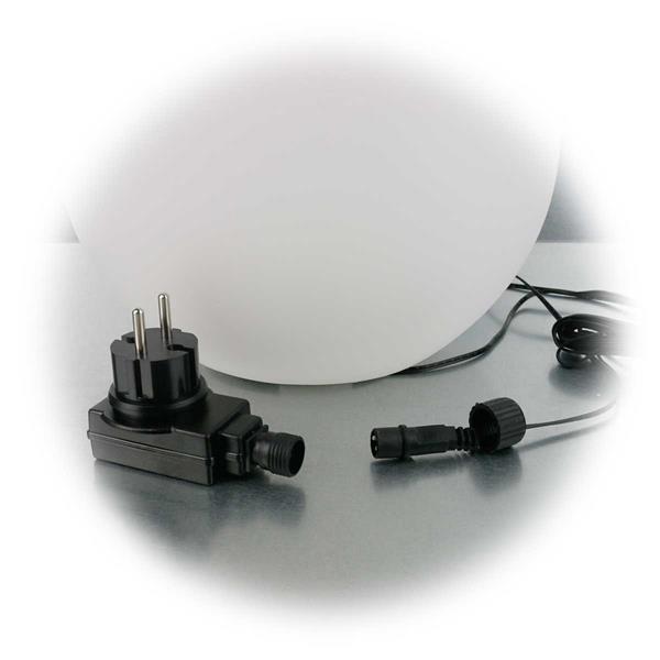 LED Kugelleuchte mit 230V Netzteil oder Akkubetrieb