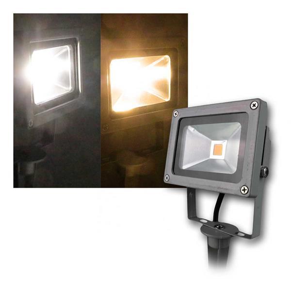 Erdspieß Fluter grau 10W warm/day/RGB IP44 230V