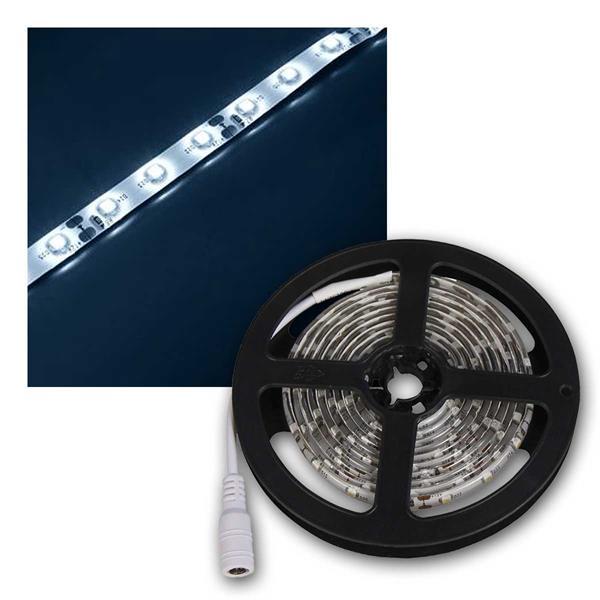 LED-Stripe 2m, kaltweiß, 120 LED, 12V, IP65, 6400K