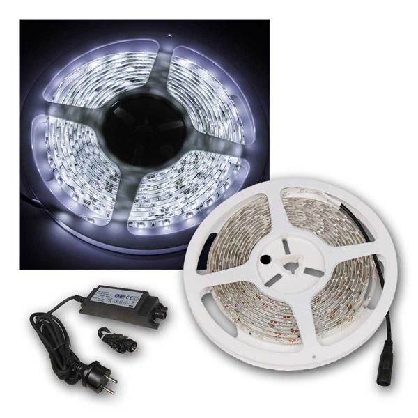 LED-Stripe, 240 LEDs, kaltweiss, 4m, IP44