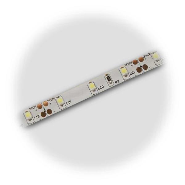 LED Streifen mit weißer Platine und Silikonummantelung, spritzwassergeschützt