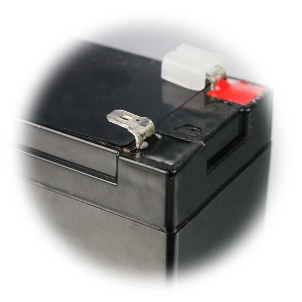 wartungsfreier Blei-Säure-Akku mit 4,8mm Flachstecker Anschlüssen
