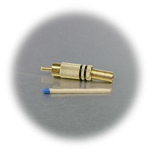 High-End Cinch-Stecker aus Metall mit Knickschutz