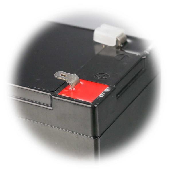 wartungsfreie Blei-Akkus mit 4,8mm Flachstecker Anschlüssen
