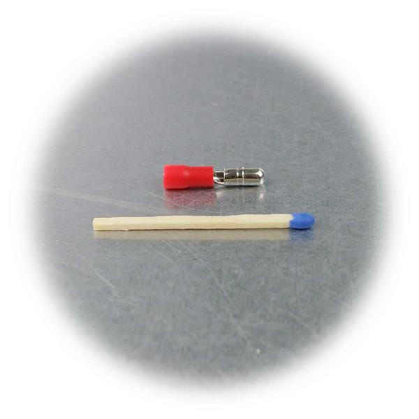 Crimpstecker mit roter PVC-Isolation, Schaffung lösbarer Verbindungen