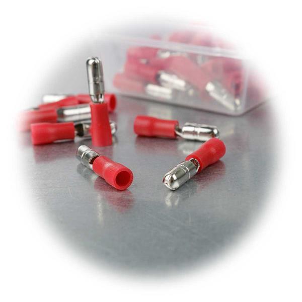 Rundkabelstecker für abisolierte Kabel, zum Verpressen mit Crimpzange