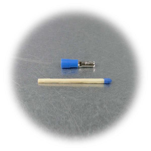 Crimpstecker mit blauer KennzeichnungPVC-Isolation, Schaffung lösbarer Verbindungen