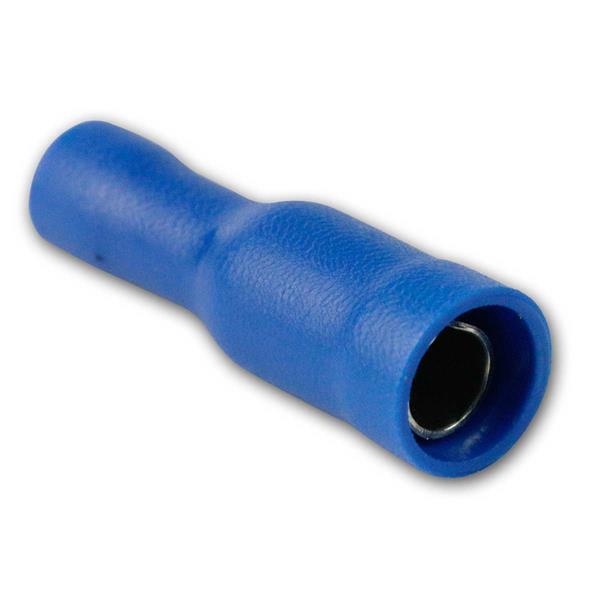Rundhülsen 1,5-2,5mm, 50 Stück blau in Plastikbox