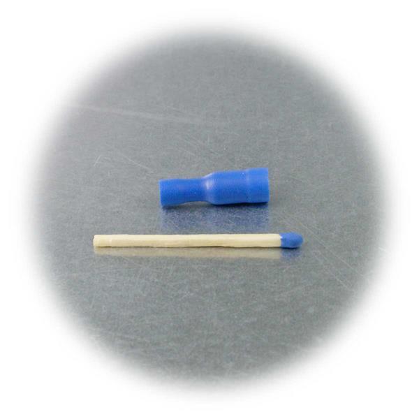 Rundsteckhülsen mit blauer PVC-Isolation, Schaffung lösbarer Verbindungen