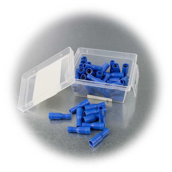 Steckverbinder für Kabel und Litzen in praktischer Box, Inhalt 50 Stück