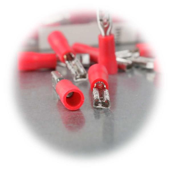 Flachsteckverbinder für Kabelquerschnitte von 0,5-1,5mm²
