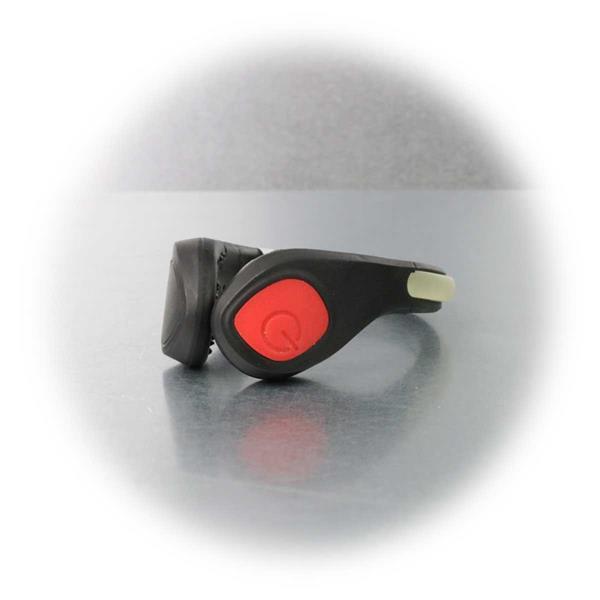 LED Schuhclip mit einfacher Handhabung und sicherer Befestigung