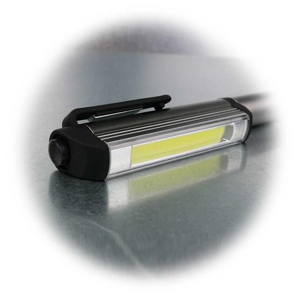 LED Inspektionsleuchte mit magnetischem Halteclip