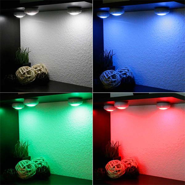 Dimmbare LED-Unterbauleuchte in verschiedenen Leuchtfarben