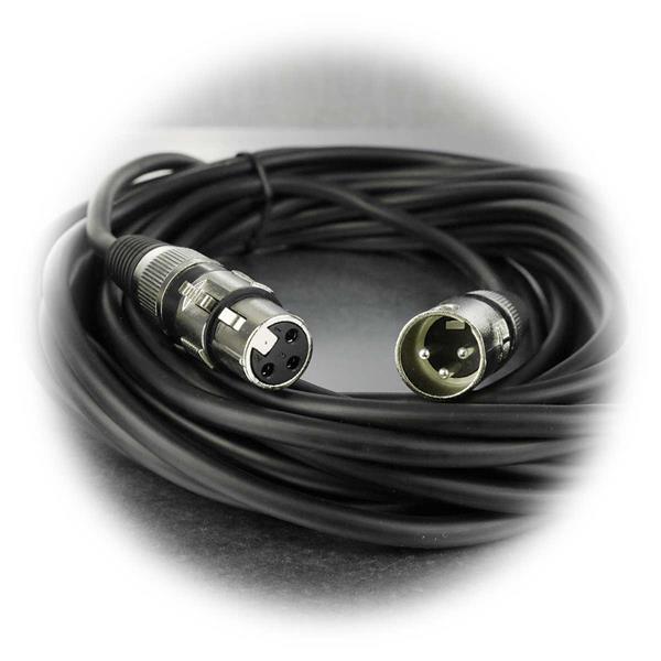 10m XLR-Mikrofonkabel mit 3-Pin-Stecker und XLR-Buchse