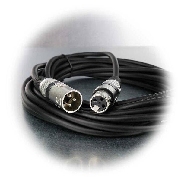 Mikrofonkabel für Studio- und Live-Aufnahmen mit 3-Pin-XLR-Stecker und Buchse