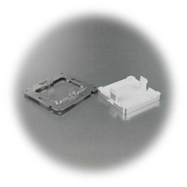 Blinddose der Schalterserie DELPHI in silber