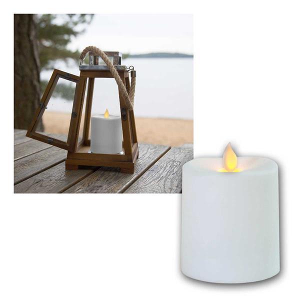 LED Kerze Outdoor GLIM, 8,5cm, weiß, bewegl Flamme