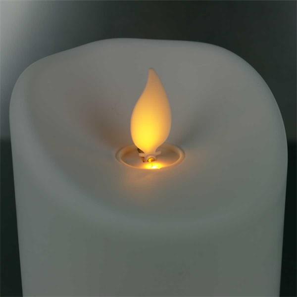 LED Dekokerze mit warmweißem Lichtschein für den Outdoorbereich