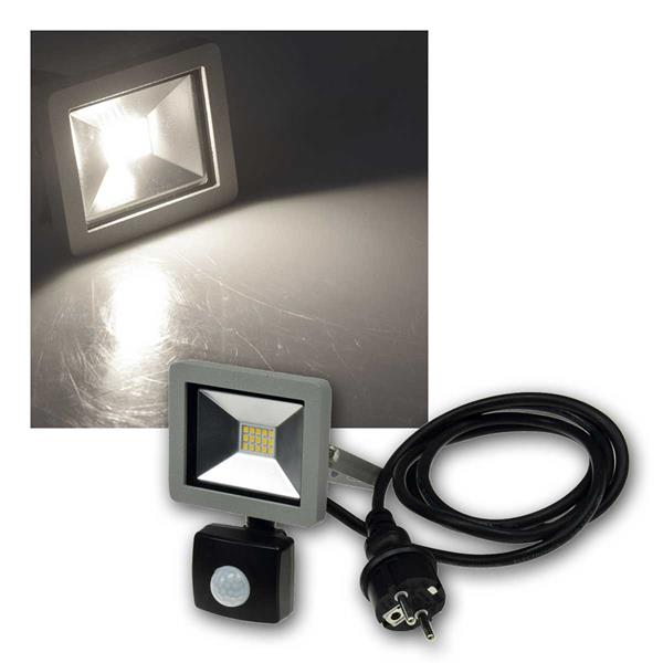 LED-Fluter SlimLineCTF-SLT10 PIR, 10W, daylight