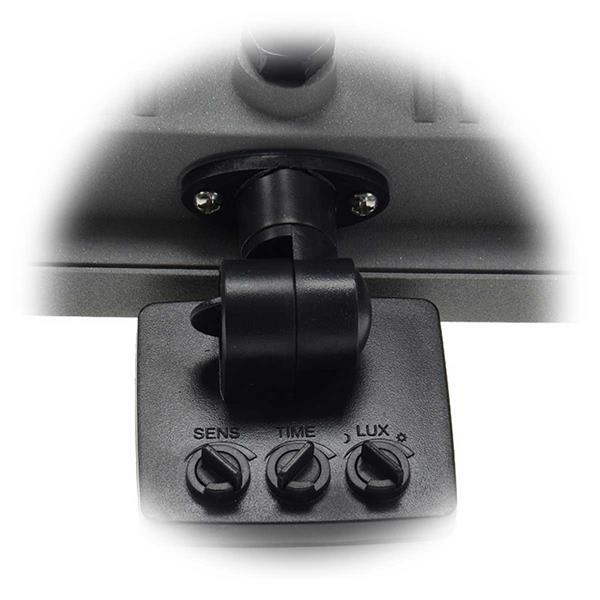 LED Flutlichtstrahler mit Drehschalter zum Einstellen des Sensors